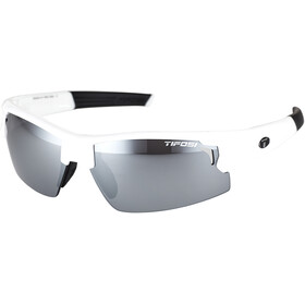 Tifosi Escalate HS Gafas Hombre, pearl white - smoke/ac red/clear